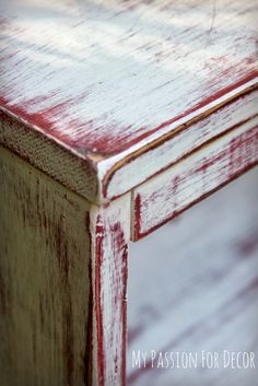 My Passion For Decor: Paris Inspired Bookshelf. Emperors silk, two coats pure white, distressed, poly.