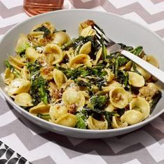 Pasta with Broccoli Rabe and Sausage | MyRecipes.com