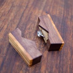 """Ring box """"The Mountain"""", made from black walnut and olive wood - engagement ring box - proposal ring box - Made to order Woodworking Workbench, Woodworking Projects Plans, Woodshop Tools, Woodworking Beginner, Woodworking Organization, Woodworking Quotes, Youtube Woodworking, Woodworking Equipment, Woodworking Logo"""