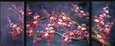 chinese Cherry Blossom Painting photo: exotic-arts-gallery.com.   Chinese Cherry Blossom Painting-Chinese Oil Painting: This photo was uploaded by gregg_r_1999