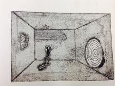 Gallery one, etching by Helen Perry