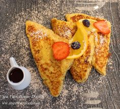 Another breakfast favourite here at Sea View House Orange and vanilla French Toast with cinnamon , nutmeg and maple syrup