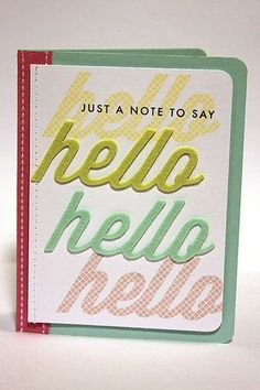 A Note To Say Hello Card by Heather Nichols for Papertrey Ink (February 2013)