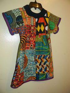 Harriets By Hekima Children's patchwork T-shirt dress