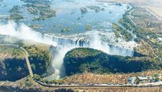Wodospady Wiktorii, Zambia Niagara Falls, Nature, Travel, Naturaleza, Viajes, Destinations, Traveling, Trips, Nature Illustration