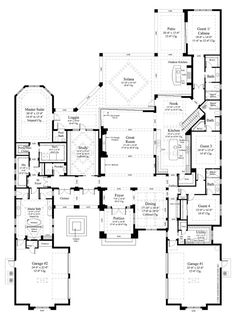 Contemporary Style House Plan - 5 Beds 5.50 Baths 6136 Sq/Ft Plan #930-475 Floor Plan - Main Floor Plan