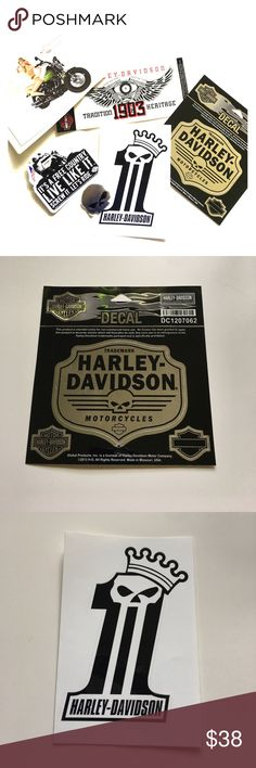 Harley-Davidson Decals and swag Awesome bundle of genuine Harley-Davidson decals, stickers, and postcards. Some of these were Limited and never for sale to the public. Harley-Davidson Other