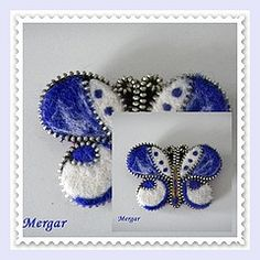 Mariposa con cremallera afieltrada