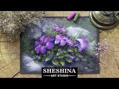 Видеоурок: рисуем петуньи сухой пастелью - Ярмарка Мастеров - ручная работа, handmade