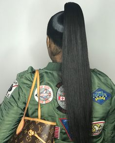 prom hairstyles for black girls High Ponytail Braid, Weave Ponytail, Long Ponytails, Sleek Ponytail, Hair Ponytail, Ponytail Styles, Sleek Hairstyles, Black Girls Hairstyles, Pretty Hairstyles