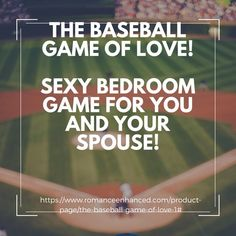Baseball Gifts:The Baseball Game of LOVE! Games For Married Couples, Baseball Gifts, Softball Gifts, Bedroom Games, Game Of Love, Gift Guide For Him, Emotional Connection, Foreplay, Unique Cards