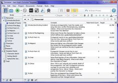 Scrivener story plotting template, plus a bunch of other templates.