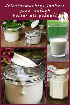 Selbstgemachtes Joghurt ganz einfach Have you ever thought about making yogurt yourself? Today I have the facts for yogurt production for you. Make Your Own Yogurt, Making Yogurt, Healthy Recepies, Healthy Snacks, Law Carb, Green Tea Diet, Homemade Yogurt, Vegetable Drinks, Healthy Eating Tips