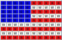 american flag safety pin and seed bead pattern