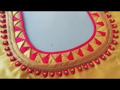 Lets learn how to stitch a very simple back neck design of a blouse. You all can try stitching the back blouse design by watching this video simultaneously. Latest Blouse Neck Designs, Saree Blouse Neck Designs, Simple Blouse Designs, Neck Designs For Suits, Stylish Blouse Design, Dress Neck Designs, Bridal Blouse Designs, Sari Blouse, Traditional Blouse Designs