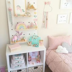 40 Cute Unicorn Decoration for Kids Bedroom - How you arrange your bedroom will certainly influence the effect of the plan. Kids bedroom sets for girls arrive in a larger range of choices. On top . by Joey Bedroom For Girls Kids, Little Girl Rooms, Childrens Bedroom Ideas, Cute Rooms For Girls, Rainbow Girls Bedroom, Bedroom Furniture, Bedroom Decor, Master Bedroom, Lego Bedroom