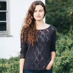 """2,220 Likes, 17 Comments - @quinceandco on Instagram: """"Our Friday fifth from Linen Noir: Gilead, a dolman pullover in Sparrow Eclipse, by Leila Raabe.…"""""""
