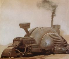 Johnson has shared with us these great and rare photos of the Harvester filming miniatures from DUNE! Manado, Dune Film, Dune Book, Dune Frank Herbert, Dune Art, Sci Fi Models, Environment Concept Art, Desert Environment, Sci Fi Ships