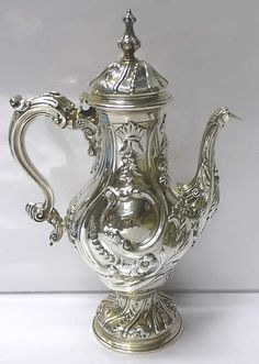 Victorian Silver COFFEE POT   ___________________________ Reposted by Dr. Veronica Lee, DNP (Depew/Buffalo, NY, US)