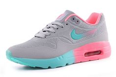 official photos ddea4 0ec1e COM Womans Nike Air Max 1 Ultra Moire Grey Pink Jade - Nike Wmns Air Max  One 1 casual shoes Brand  Nike Lining  Textile Style  Athletic Sneakers  Sole  ...