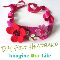 DIY Felt Poppy Headband