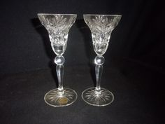 Vintage Cristal d'Arques 24% Genuine Lead Crystal Candle Holders - Lovely!