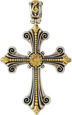 Jewel Tie Sterling Silver Reversible Crucifix Cross Pendant 32mm x 56mm