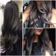 83 New Brilliant Balayage Black Hair Color Ideas to Inspire You – Hair Makeup Gray Balayage, Balayage Hair, Hair Color For Black Hair, Blue Hair, Hair Colour, Lilac Hair, Pastel Hair, Green Hair, Diy Hairstyles