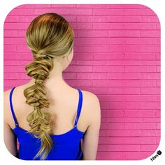 #bubblepony ⚪️ Tie hair in a low ponytail and wrap to cover hairtie. Begin a outward #fishtail and secure with a hairtie 1/3 of the way down. Wrap hair again to cover the hairtie and use a Bobby pin to secure. Repeat fishtail two lore times and then go back and tug at #braids to loosen and soften the look! #beautiful  #hair #hairbymel #hairdesign #style #hairstyle #NZ #AKL #diy #diyhair #longhair #blonde #girlie #prettyhair #messyfishtail