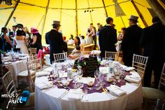 Top hats, tails and formal dining, tipi style!