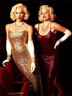 Megan Hilty and Katharine McPhee as Marilyn Monroe