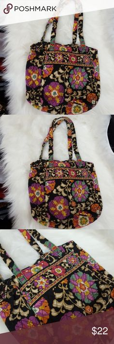 Vera Bradley Shoulder Bag Beautifully colored floral pattern. No flaws. Vera Bradley Bags