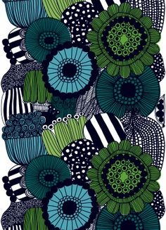 Why not use marimekko fabric to update your home decor . Marimekko fabric can be stretched over a frame to create a piece of wall art. Textile Patterns, Textile Design, Fabric Design, Pattern Design, Textiles, Textile Prints, Pretty Patterns, Color Patterns, Modern Patterns