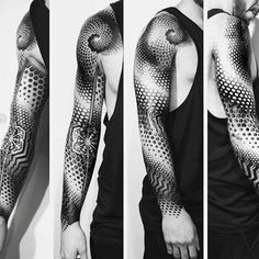 masculine-circles-and-dots-geometric-sleeve-tattoos-for-men.jpg - masculine-circles-and-dots-geometric-sleeve-tattoos-for-men. Geometric Tattoo Sleeve Designs, Geometric Tattoos Men, Tattoo Designs Men, Trendy Tattoos, Sexy Tattoos, Tattoos For Guys, Fake Tattoos, Tattoos Arm Mann, Wolf Tattoos