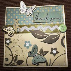 Cartão Agradecimento Scrapbook
