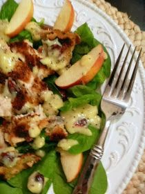 Slice of Southern: Fall Salad: Crispy Chicken, Apple, and Spinach Salad