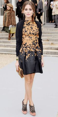 Olivia Palermo wearing Christian Dior while attention the Dior presentation during Paris Fashion Week