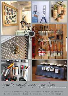 super7magnetorganizing by MrsLimestone, via Flickr  Brooklyn Limestone blog  magnetic makeup (Kendra?) and tools!