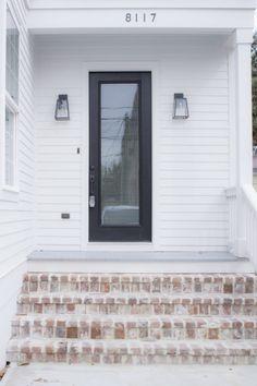 New build. Address numbers, lighting, paint colors, door knobs, five panel door, fan, front door lock. New construction. Link to buy. SW 7035 Aesthetic White