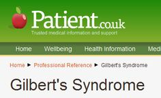 Gilbert's syndrome is usually an autosomal recessive disorder and is a commo. - All Diseases Gilbert's Syndrome, Professional References, Medical Information, Medical Conditions, Disorders, Health Fitness, Dj, Teacher, Cases