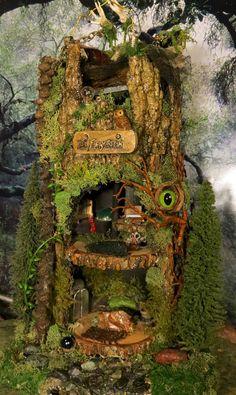 Fairy House, Sale, Dr. Faery Stein, Woodland Fairies, Fantasy art, Miniature House, Frankenstein, Unique Art, Faerie