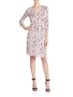 DIANE VON FURSTENBERG New Julian Floral-Print Cotton & Silk Jersey Wrap Dress. #dianevonfurstenberg #cloth #dress