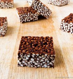 Choco-nut Puffed Millet Squares. Sub maple syrup for honey and peanut butter for coconut butter (if not well tolerated.)