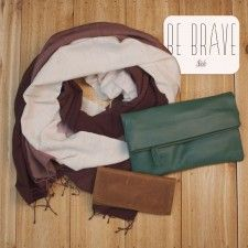 Brave Package from Sseko Designs Ft. Cabernet Scarf, Jade Crossbody & Caramel Wallet #SsekoWishList