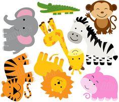 SAFARI NURSERY DECAL Or Wall Art Prints Girl Jungle Animal - Zoo animal wall decals