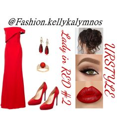 Fashion set Lady in RED Dress Styles, Lady In Red, Christian Louboutin, Pumps, Beauty, Dresses, Design, Fashion, Madame Red
