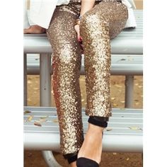 Sequined Gold Silver Leggings Glitter Pants On Sale | Victoriaswing