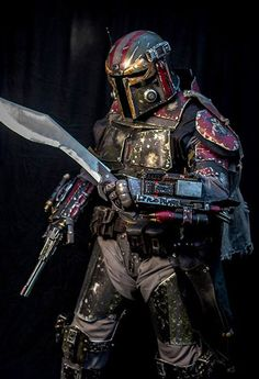 All Metal Costume of the Mandalorian Merc - Magical memes and gifs that only a true geek could appreciate and laugh at. Armor Cosplay, Mandalorian Cosplay, Cosplay Costumes, Star Wars Characters Pictures, Star Wars Images, Star Wars Rpg, Star Wars Jedi, Cyberpunk, Star Wars Bounty Hunter