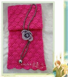 Crochet and arts: Pink scarf