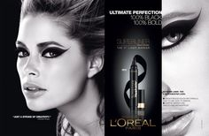 L'Oréal Superliner 2013 Ad Campaign - Kenneth Willardt photographed Barbara Palvin and Doutzen Kroes (and their dramatic eyes!) for L'Oreal Superliner latest ad campaign images! Beauty Ad, Beauty Makeup, Hair Beauty, Makeup Ads, Makeup Stuff, Beauty Companies, Dramatic Eyes, Doutzen Kroes, Tan Skin